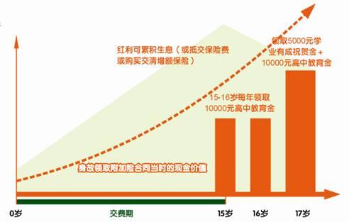 平安附加少儿高中教育年金保险(分红型,2004)
